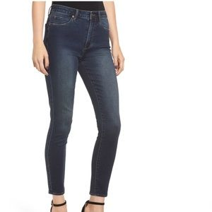 LEITH - Dark Wash High Waist Ankle Skinny Jeans 27